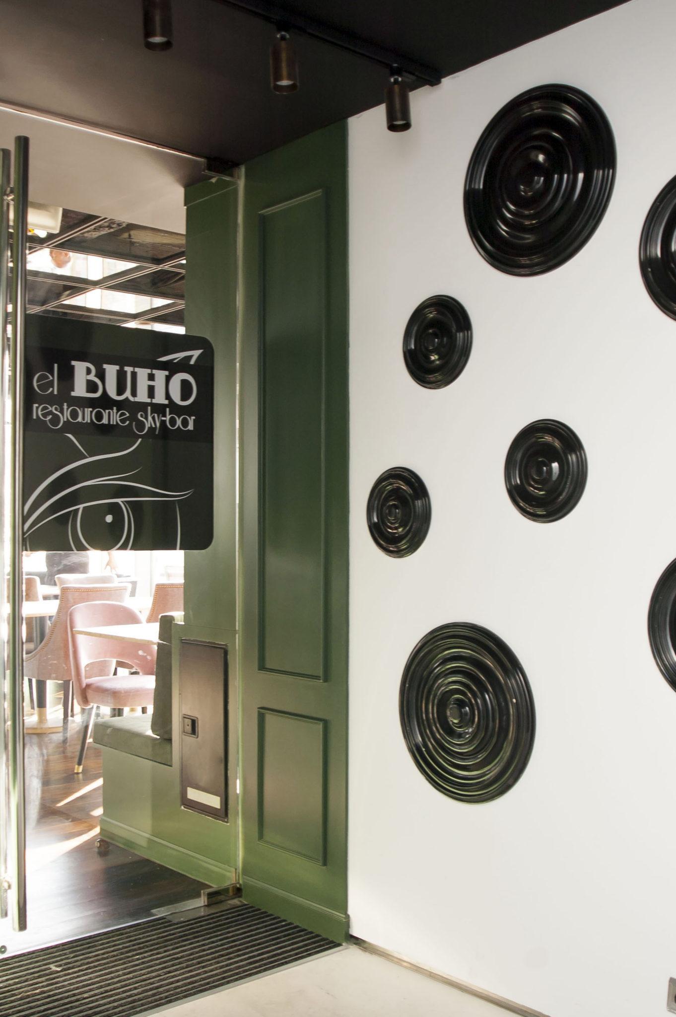 Texturas en El Buho Restaurante Sky Bar en Pamplona
